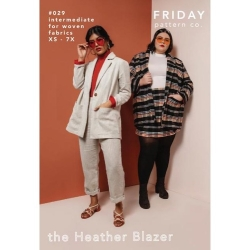 The Heather Blazer Pattern by Friday Pattern Co. sold by Online Canadian Fabric Store Woven Modern Fabric Gallery