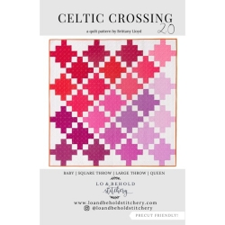 Celtic Crossing Quilt Pattern by Lo & Behold Stitchery  sold by Online Canadian Fabric Store Woven Modern Fabric Gallery