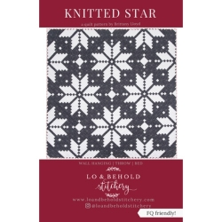 Knitted Star Quilt Pattern by Lo & Behold Stitchery  sold by Online Canadian Fabric Store Woven Modern Fabric Gallery