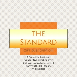 Monthly fabric gift subscription from canadian online fabric shop Woven Fabric Gallery