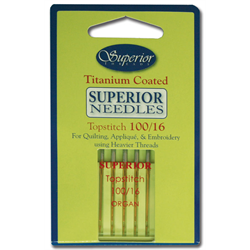 Superior Machine Needles 100/16 for sale at Candian online fabric store Woven Modern Fabric Gallery