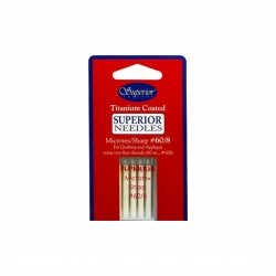 Superior Machine Needles microtes 60/8 for sale at Candian online fabric store Woven Modern Fabric Gallery