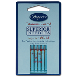Superior Machine Needles 80/12 for sale at Candian online fabric store Woven Modern Fabric Gallery