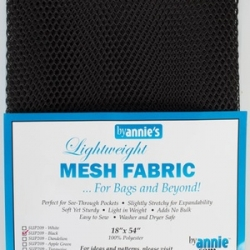 Mesh fabric black from By Annie sold by Online Canadian Fabric Store Woven Modern Fabric Gallery