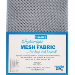 Mesh fabric pewter from By Annie sold by Online Canadian Fabric Store Woven Modern Fabric Gallery