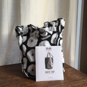 The Jack Tar Bag using a pattern and fabric for sale at Canadian online fabric shop Woven Modern Fabric Gallery