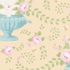 Flowerbees Eggnog by Tilda sold by Online Canadian Fabric Store Woven Modern Fabric Gallery