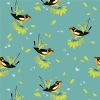 Blackburnian Warbler organic fabric from Birch Fabrics sold by Online Canadian Fabric Store Woven Modern Fabric Gallery