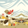 Crabitat double boarder fabric by Charley Harper for Birch Fabrics sold by Online Canadian Fabric Store Woven Modern Fabric Gallery