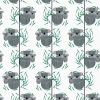Koala Koala Organic fabric by Charley Harper for Birch Fabrics sold by Online Canadian Fabric Store Woven Modern Fabric Gallery