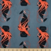 Small Squid & Whale Organic fabric by Charley Harper for Birch Fabrics sold by Online Canadian Fabric Store Woven Modern Fabric Gallery