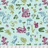 In my Garden Aqua by Nathalie Lete for Anna Maria's Conservatory sold by Online Canadian Fabric Store Woven Modern Fabric Gallery