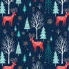Winter Deer from Dashwood Studios sold by Online Canadian Fabric Store Woven Modern Fabric Gallery