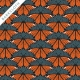 Monarch Butterflies Organic barkcloth fabric by Charley Harper for Birch Fabrics sold by Online Canadian Fabric Store Woven Modern Fabric Gallery